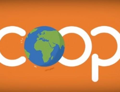 Emplea el distintivo del dominio .coop