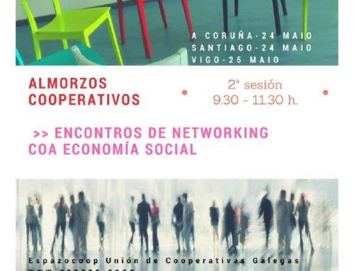 Almorzos cooperativos, sesión nº 2 – MAIO | Participas no networking coa Economía Social ?