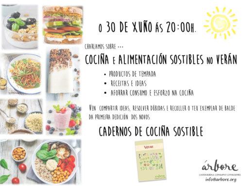 """Árbore organiza a charla: """"Cociña e alimentación sostibles no verán"""""""