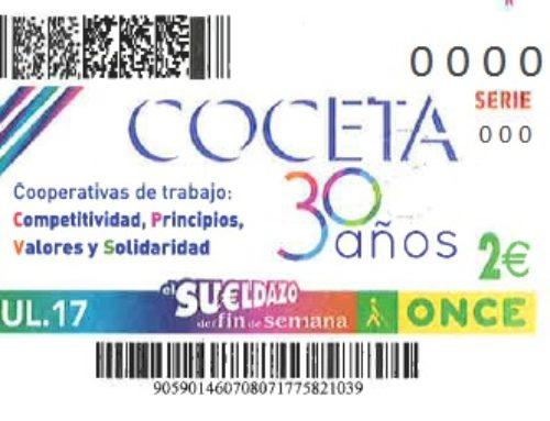 La Confederación Española de Cooperativas de Trabajo Asociado celebra sus 30 años, en el cupón de la ONCE