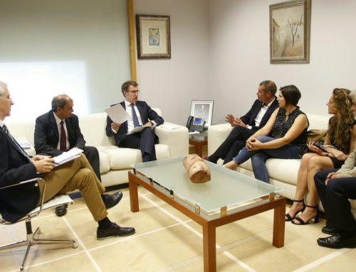 Espazocoop se reunión con el Presidente de la Xunta y trasalada la importancia del cooperativismo en Galicia
