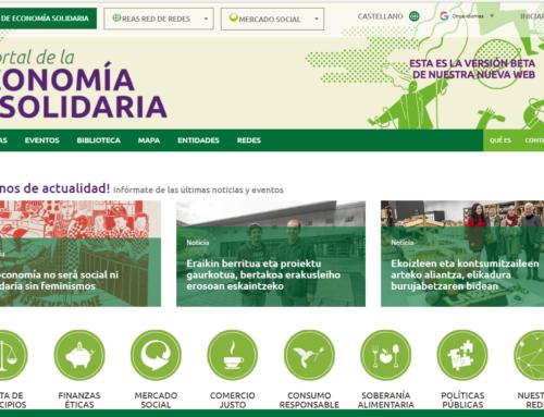 Novo portal da Economía Solidaria, REAS