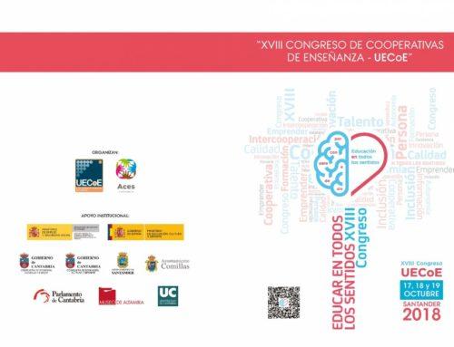 Congreso de UECoE – 16-18/out. 2018 ' EDUCAR EN TÓDOLOS SENTIDOS'