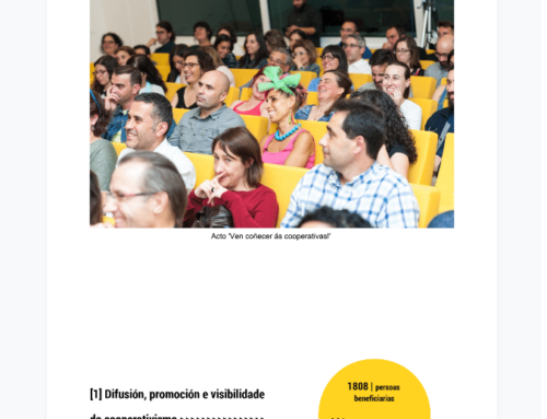 MEMORIA 2017 de EspazoCoop: revela el papel esencial del asociacionismo cooperativo