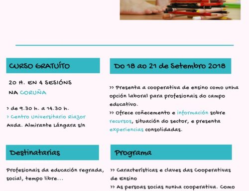 Curso: Cooperativas de Ensino, unha alternativa de emprego | A Coruña, setembro