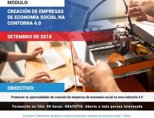 Creación de empresas de economía social na contorna 4.0 | Formación en liña