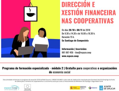 Dirección e xestión financeira nas cooperativas | 26/out. e 08/nov.