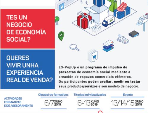 Aberto o prazo de inscrición para proxectos de economía social no espazo comercial  ES-POP UP Ourense | ata 31/maio
