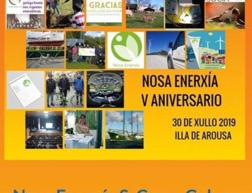 A Cooperativa Nosa Enerxía convídanos ao seu V aniversario