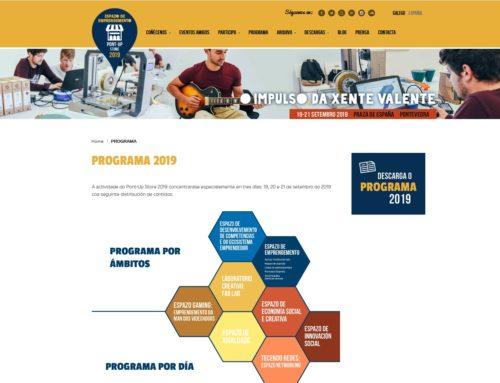 Programa de Pont-Up Store, 19-21 Septiembre / Praza de España / Pontevedra