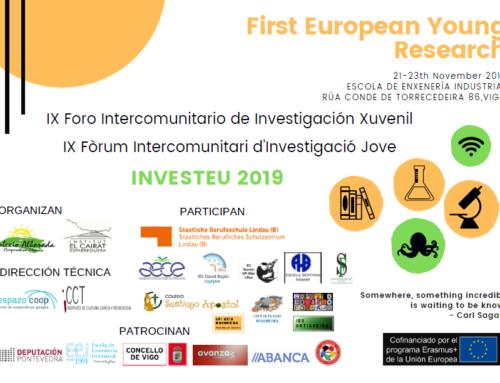 9º Foro Intercomunitario de Investigación Juvenil y 1º Europeo de Investigación | 21, 22, y 23 de noviembre, Vigo