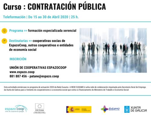 « Contratación Pública » Teleformación de EspazoCoop especializada