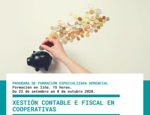 Gestión Contable y Fiscal en Cooperativas | Teleformación, inicio en septiembre