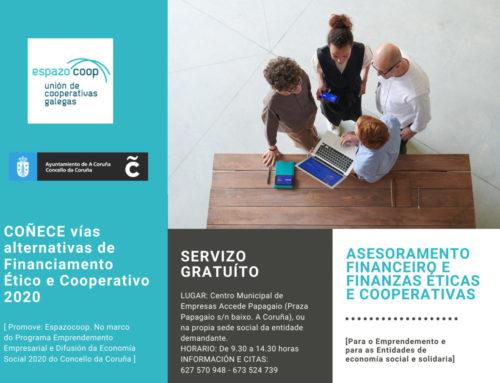 Servizo Asesoramento Financeiro e Finanzas Éticas e Cooperativas 2020 | A Coruña