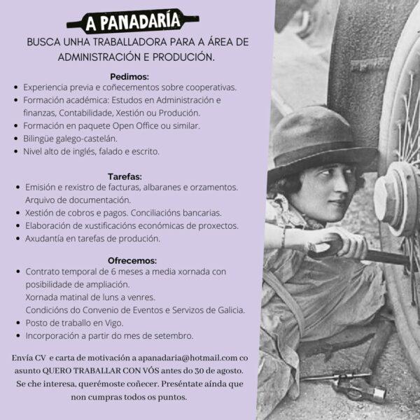 Oferta de emprego A Panadaría